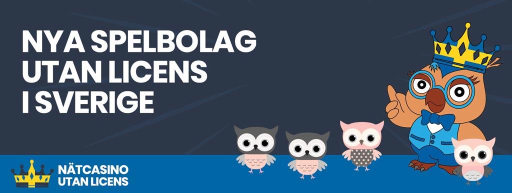 Nya Spelbolag utan svensk licens